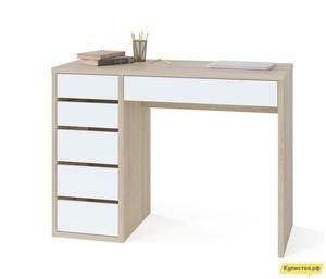 Письменный стол Тайга СПм-10 Столешница Дуб Сонома / Корпус Белый, Левый