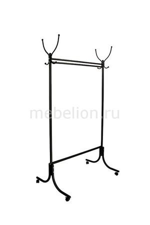 Вешалка гардеробная М-13 черный (с колесиками)