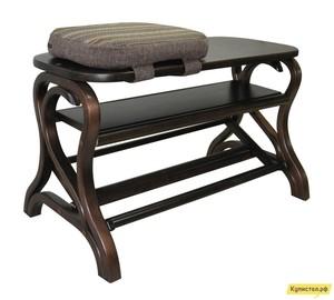 Банкетка Мебелик Подставка под обувь Диана Темно-коричневый