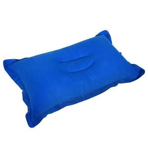 Подушка дорожная надувная 29х46 см, цвет микс