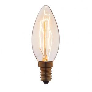 Лампа накаливания декоративная 40вт C35 230в Е14 винтаж
