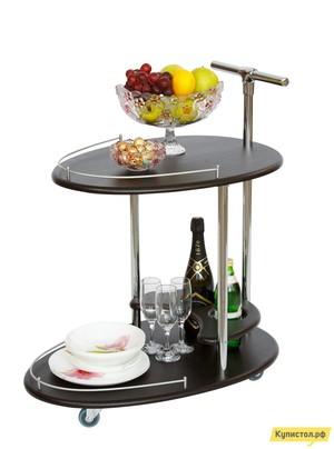 Сервировочный столик Калифорния мебель Стол сервировочный Фуршет Венге