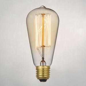 Лампа накаливания декоративная 60вт ST64 230в Е27 винтаж