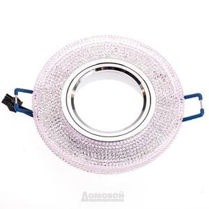 Светильник встраиваемый ЭРА DK LD1 PK декор c LED подсветкой 3W, розовый