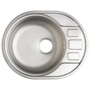 Мойка врезная Eurodomo 45S OV 57х45 см цвет хром, нержавеющая сталь