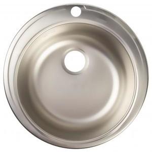 Мойка врезная Eurodomo 51см цвет хром, нержавеющая сталь