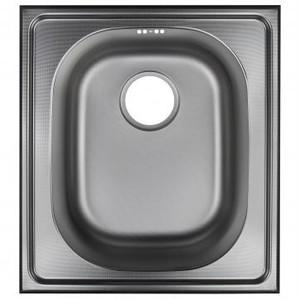 Мойка врезная Eurodomo PIL 50x45 см цвет хром, нержавеющая сталь