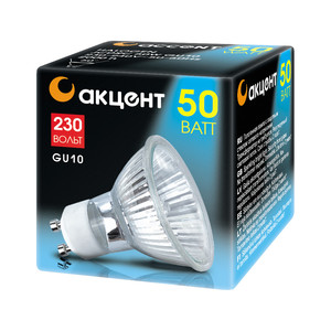 Лампа галогенная АКЦЕНТ JCDRC 230V 50W GU10