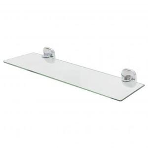 Полка для ванной комнаты Mr Penguin «Квадрат» без ограничителя 50 см стекло