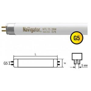 Лампа люминесцентная Navigator T5 28 вт 840